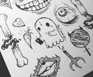 art, draw, and Halloween image
