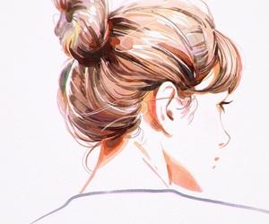 anime girl, art, and painting image