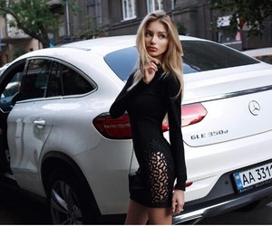 blonde, girl, and mercedes image