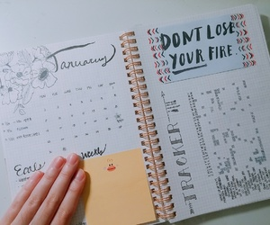 january, 2017, and bullet journal image
