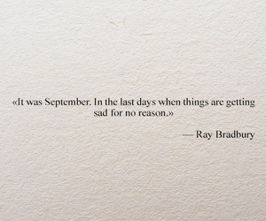 quote, Ray Bradbury, and September image
