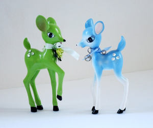 christmas, kitschy, and reindeer image