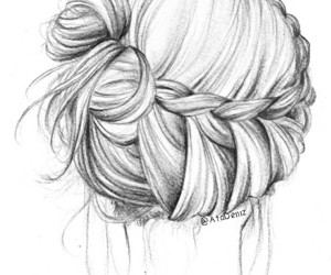 art, braid, and drawing image