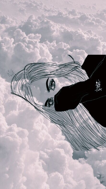 outline, tumblr, and clouds image