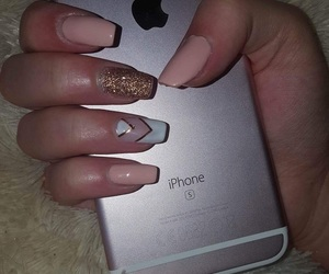 iphone, nails, and gel nails image