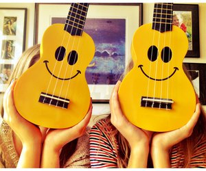 guitar, smile, and summer image
