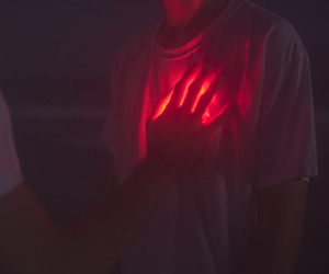 red, heart, and aesthetic image