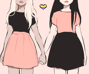 lesbian, girl, and lgbt image