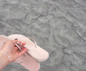 beautiful, vacation, and flip flops image