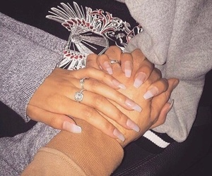 couple, lové, and hand image