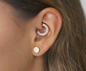 girl, piercing, and love image