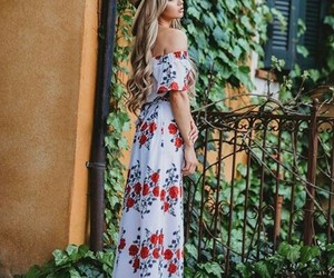 bohemian, dress, and boho image