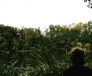 girl, jungle, and lake image