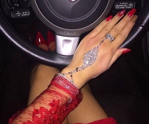 red, luxury, and nails image