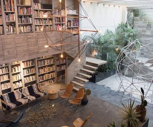 books, decoration, and house image