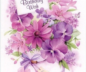 birthday, flower, and hbd image