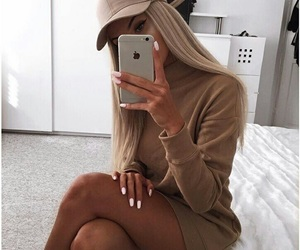 blonde, beige, and clothes image