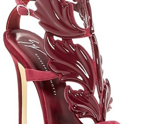 fashion, red shoes, and shoes image