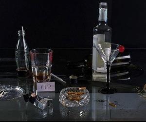 cigarette, drink, and grunge image