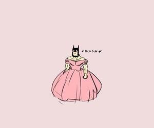 batman, pink, and wallpaper image
