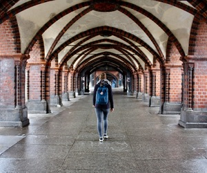 archway, girl, and berlin image