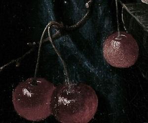 aesthetic, cherries, and dark image