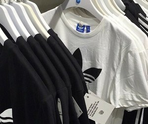 adidas, black, and white image