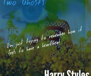Lyrics, harry styles album, and two ghosts image