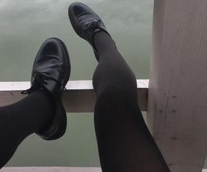 black, clothing, and shoes image