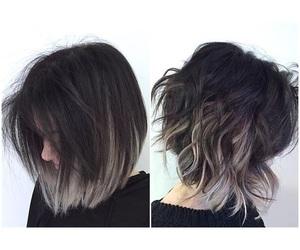 black hair, hair, and grey hair image
