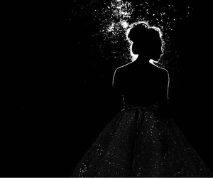 Darkness, light, and girl image
