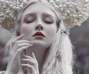 blonde, ice, and fantasy image