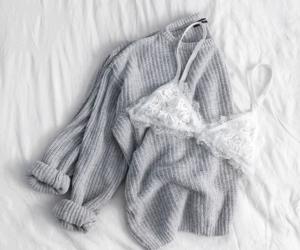 fashion, bralette, and white image