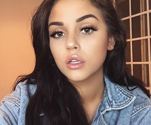 maggie lindemann, makeup, and eyebrows image