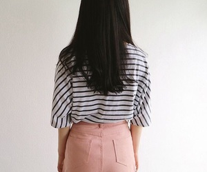 kfashion, pink, and stripes image