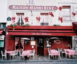 red, vintage, and cafe image