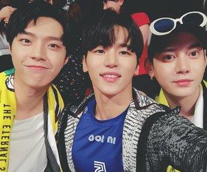 chaejin, gunwoo, and seyong image