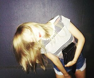 blonde hair, red lips, and instagram image