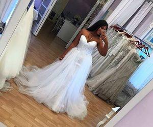 wedding, wedding dress, and mlada image
