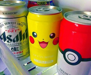drink, pikachu, and pokemon image