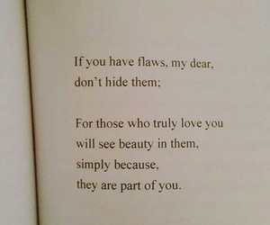 quotes, love, and flaws image
