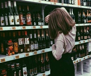 girl, drink, and aesthetic image