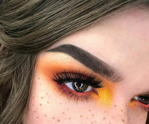 girl, beauty, and eye makeup image