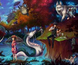 anime, totoro, and spirited away image