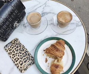 cafe, chanel, and croissant image