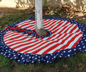 etsy, stars and stripes, and modern tree skirt image