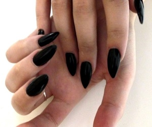 black, stiletto, and vampy image