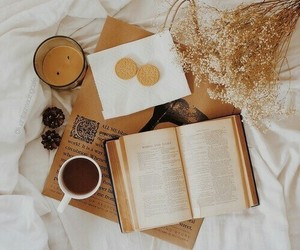 book, autumn, and reading image