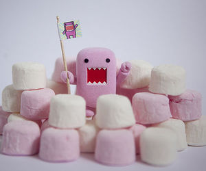 pink, marshmallow, and domo image