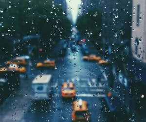 rain, city, and new york image